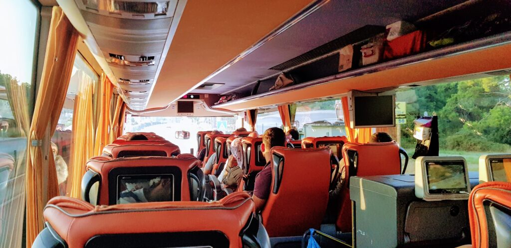 travelling by bus is relaxing and a much better way to see a country