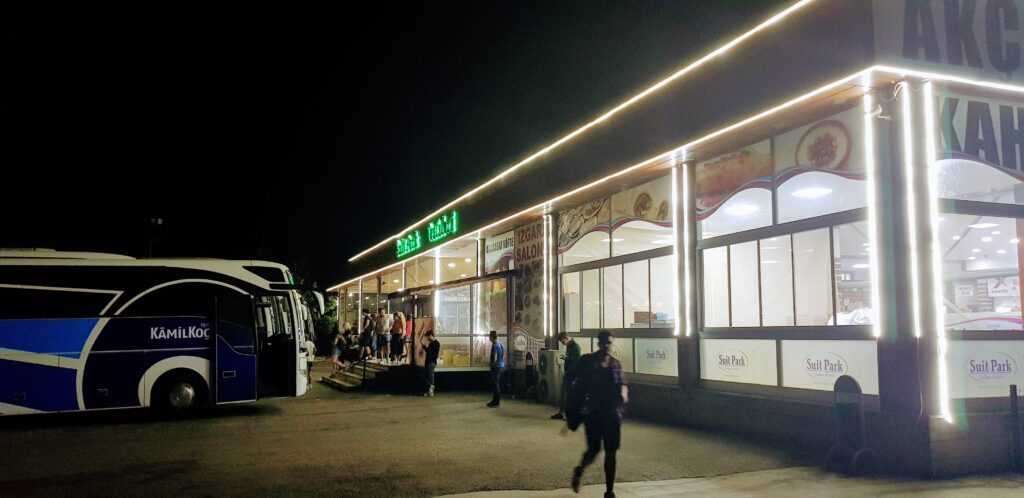 one of the many layby stations in Turkey while travelling by bus