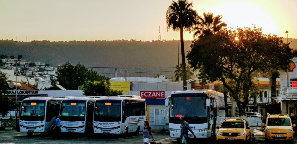 travelling by bus - the main bus station in Bodrum