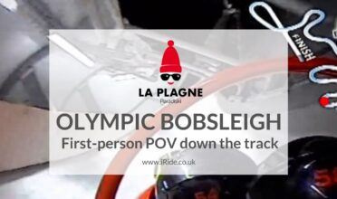 Video and review of the Olympic bobsleigh in La Plagne