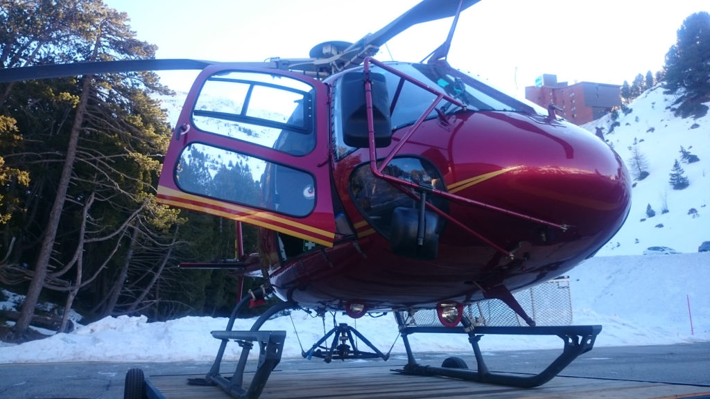 The Helicopter to Mt Blanc