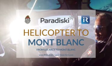 Taking a helicopter ride around Mont Blanc from Les Arcs