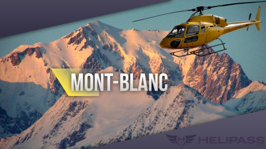 Helicopter to Mt Blanc from Les Arcs over La Rosière