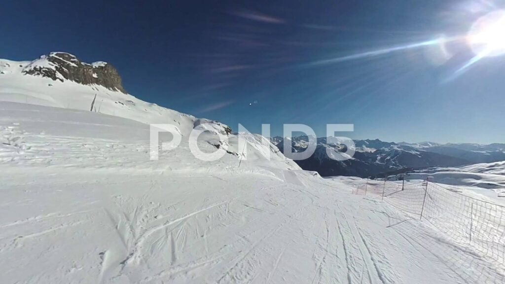 Downloadable 1st person point of view ski / snowboard video footage - snowboard video footage