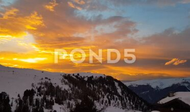 Downloadable video footage of Alpine sunsets for your next video project