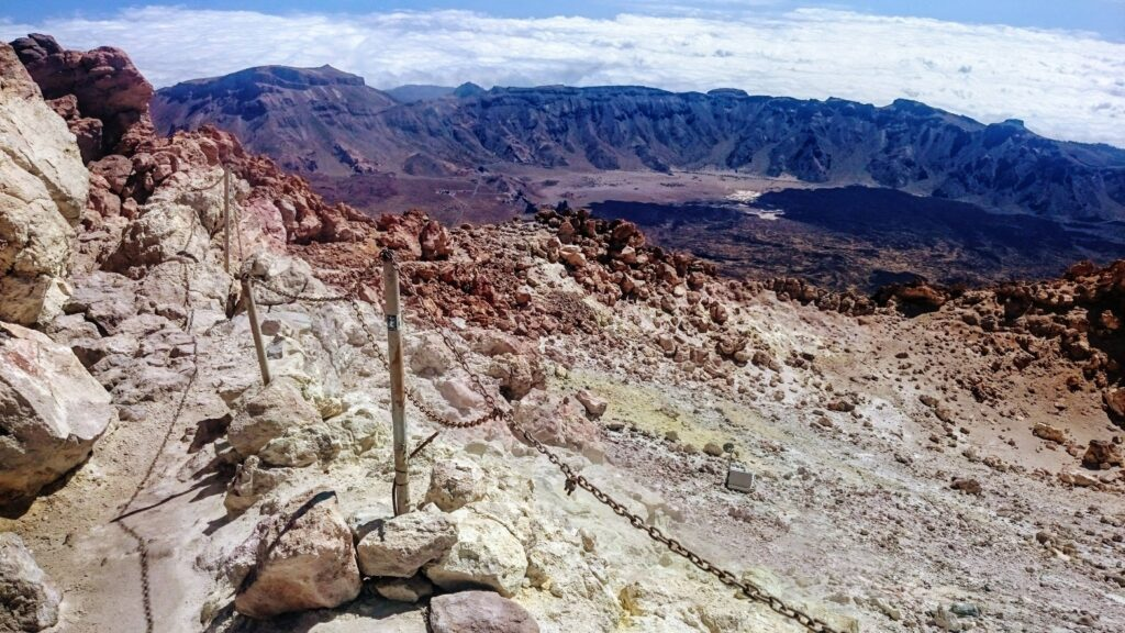 The summit crater of Mount Teide