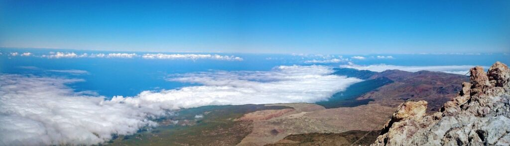 Views from the summit of Mount Teide on Tenerife