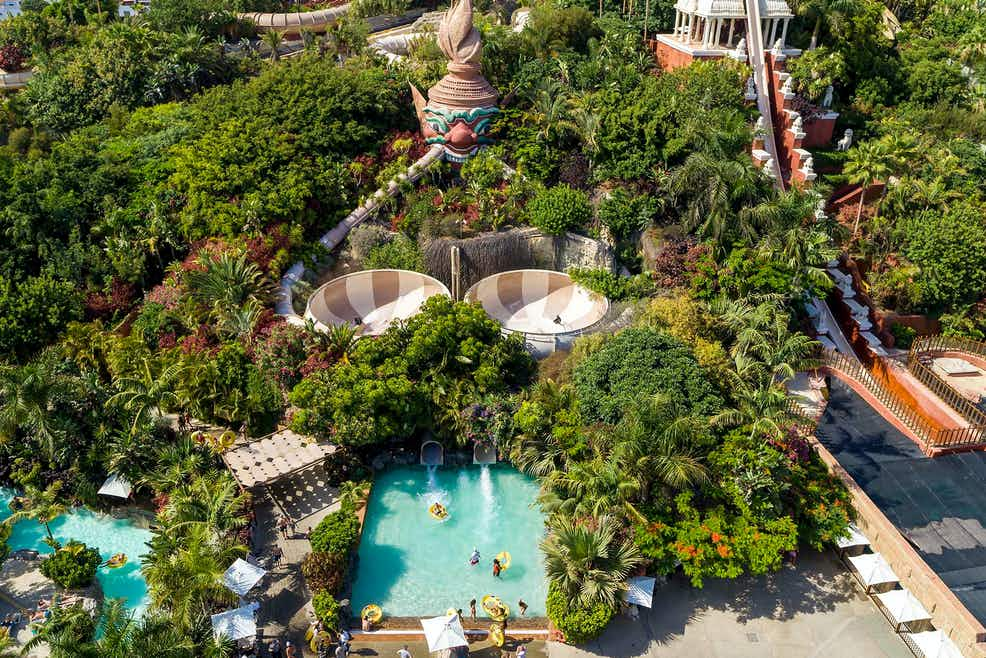 The rides at Siam Park