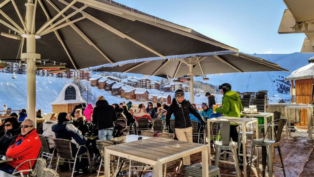 Make the best of a busy ski resort