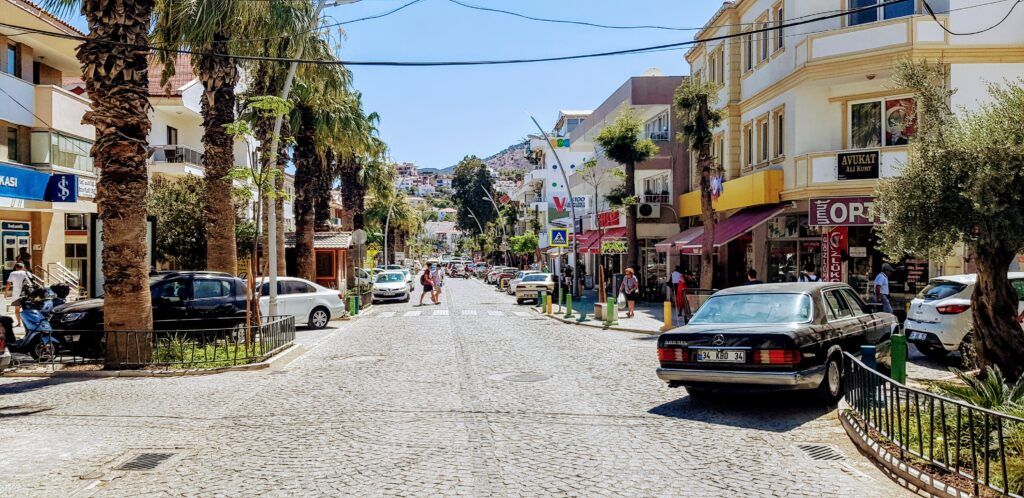 Datca main street on the way to Bodrum feribot