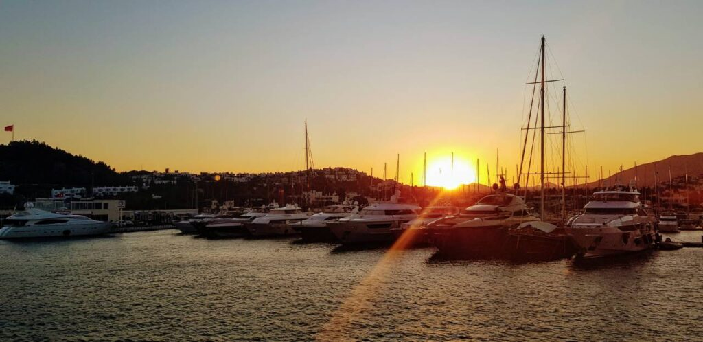 Sunset over Bodrum harbour