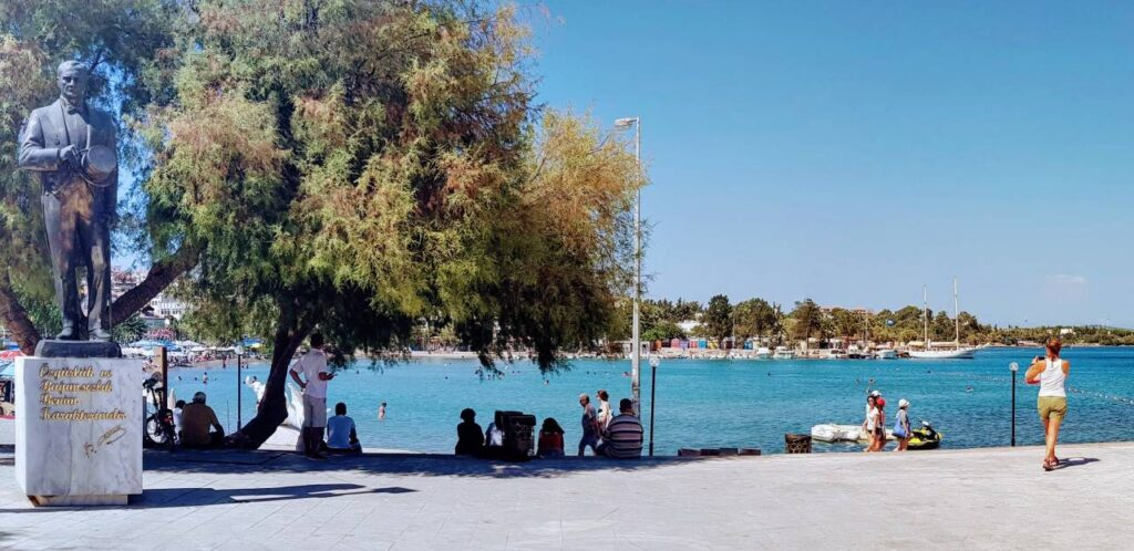 The square in front of the Datca ferry ticket office