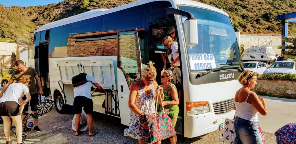 Bus from Datca to the Kormen harbour on the way to Bodrum from Marmaris