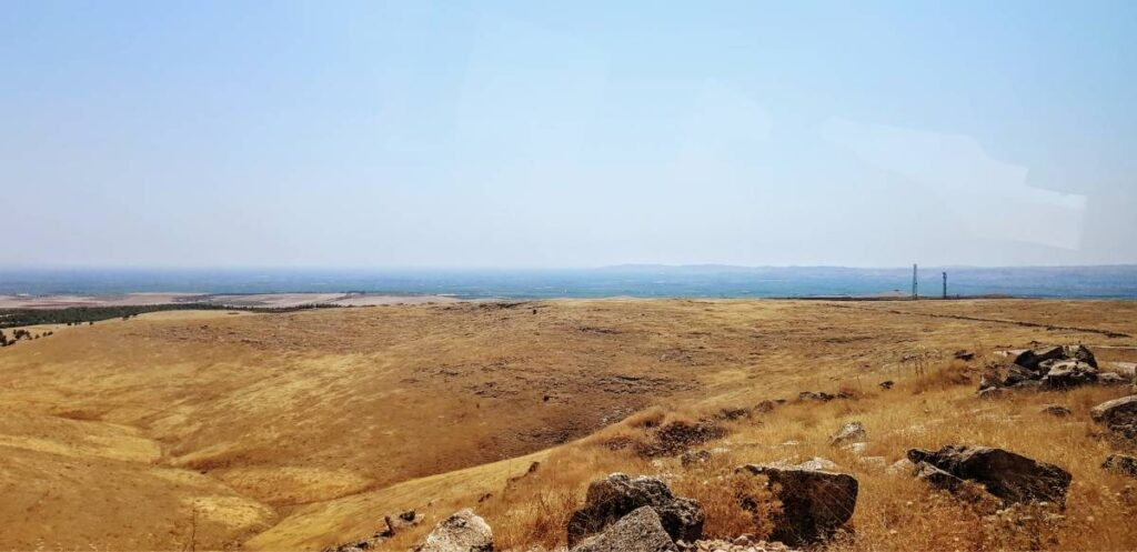 Looking over the border from Göbeklitepe