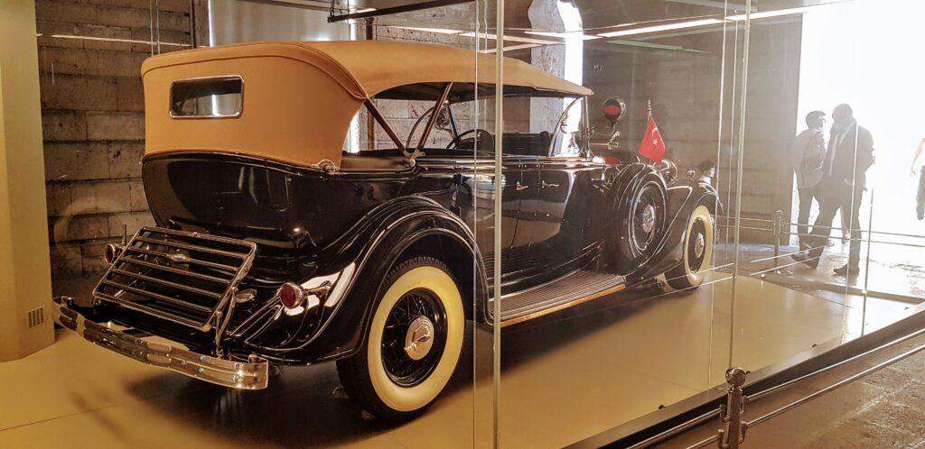 One of Ataturk's favoured cars in the Anitkabir mausoleum