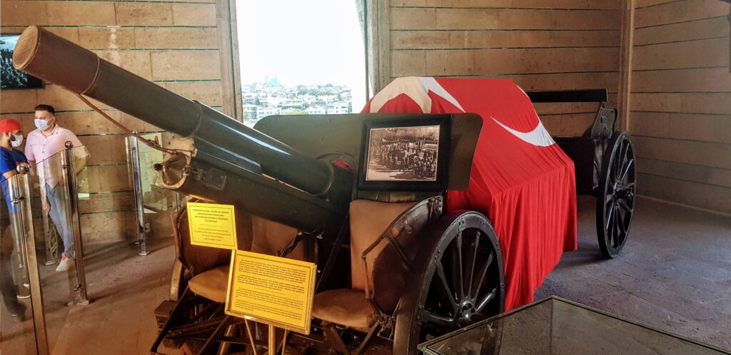 gun carriage which carried Ataturk's body on his death