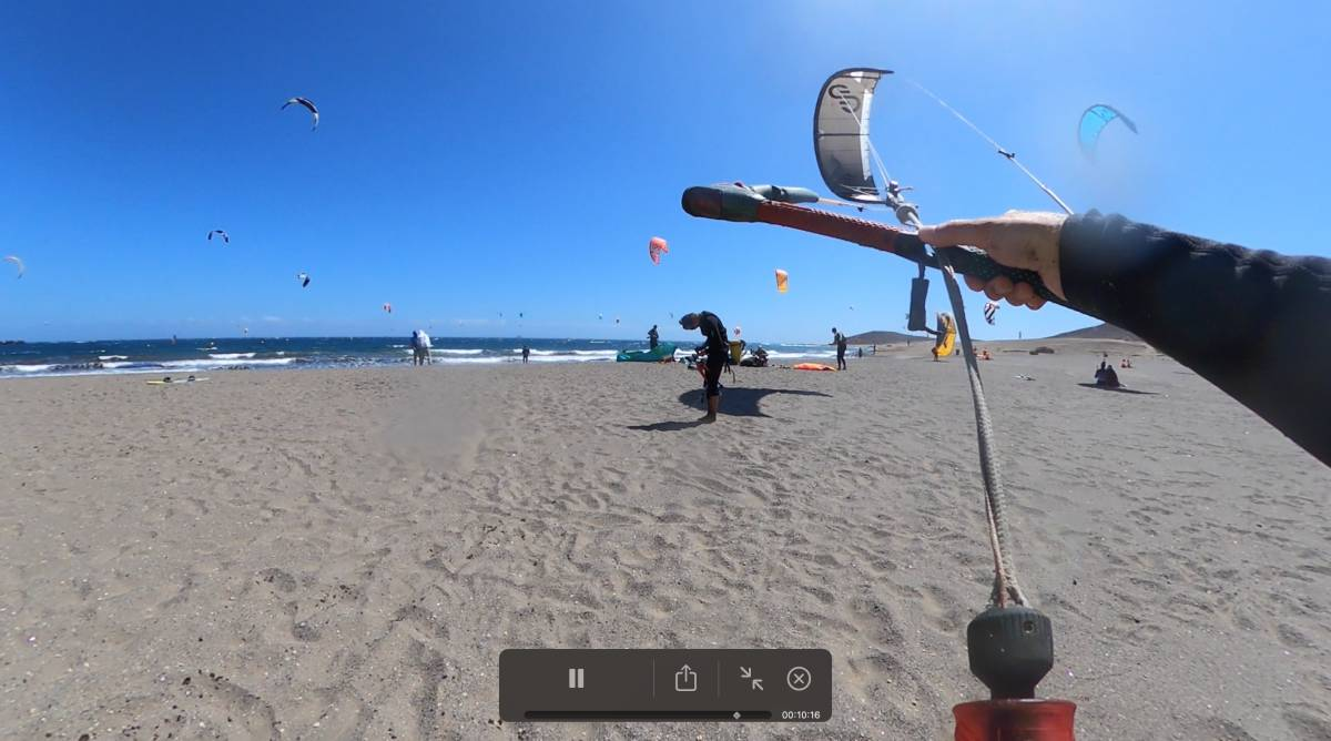 learning kitesurfing on Tenerife, day two at El Medano