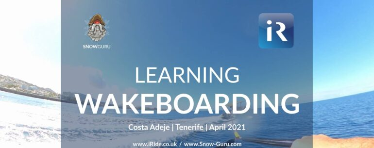 learning wakeboarding at Costa Adeje Tenerife